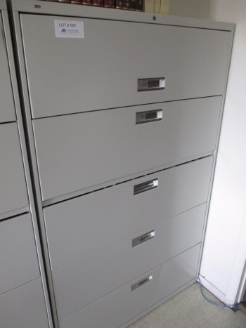 Hon 5 Drawer Filing Cabinet