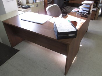 Brown Desk No Contents