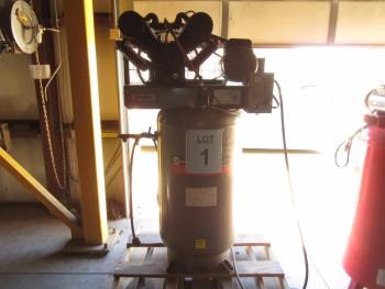 NAPA 80 GALLON AIR COMPRESSOR, MODEL: 82378VAT, 7.5 HP, 175 PSI MAX, 208-230, VOLTS, 1 PHASE, (