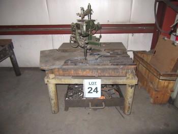 KOIKE SANSO IK-54-D PORTABLE SHAPE CUTTING UNIT WITH TABLE, (BACK BUILDING)