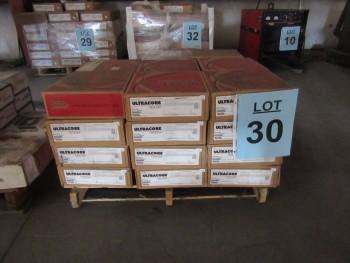 LOT (34) SPOOLS .045 LINCOLN ULTRACORE 71A75 DUAL CORE WIRE, STOCK NO. ED031669, (BACK BUILDING)