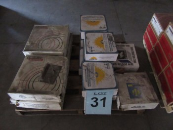LOT (14) ASST'D SPOOLS OF WELDING WIRE, LINCOLN L-61, LINCOLN 860, PINNACLE PREMIER S-6, RADNOR