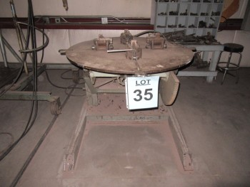 RANSOME 2,500 LB., WELDING POSITIONER, MODEL: 25P, YEAR 1972, (BACK BUILDING)