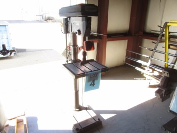 CENTRAL MACHINERY 12 SPEED DRILL PRESS, (BACK BUILDING)