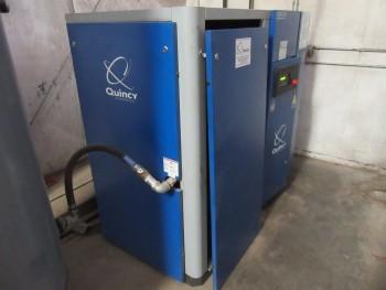 QUINCY 50 HP AIR COMPRESSOR, MODEL: QGD-50, TOTAL HOURS 12,812
