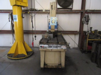 MARVEL SERIES 8 MARK I VERTICAL BAND SAW, WITH EXTRA BLADE, (BACK BUILDING)