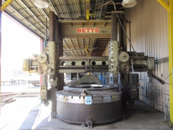 BETT VB-11 VERTICAL BORING MILL, 120\'\' TABLE WITH (4) JAWS, YEAR 1960,
