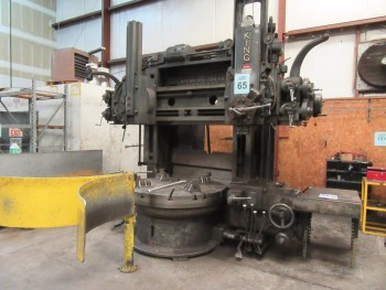 KING 62\'\' VERTICAL BORING MILL, 62\'\' TABLE WITH (4) JAWS, 5-POSITION TURRET