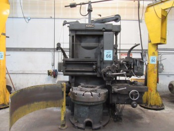 KING 42\'\' VERTICAL BORING MILL, 42\'\' TABLE WITH (4) JAWS, 5-POSITION TURRET