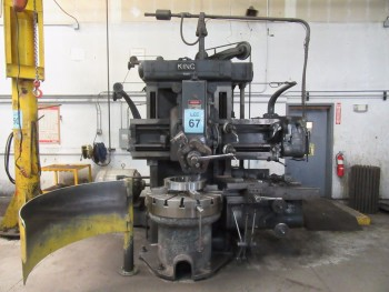 KING 36\'\' VERTICAL BORING MILL, 36\'\' TABLE WITH (4) JAWS, 5-POSITION TURRET