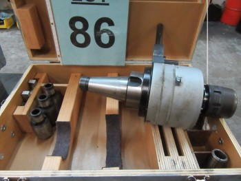 BIG NEW XG3-NMTB50 SPEED MULTIPLIER 50 TAPER WITH BIG NEW HI-POWER MILLING CHUCK HMV 1.250