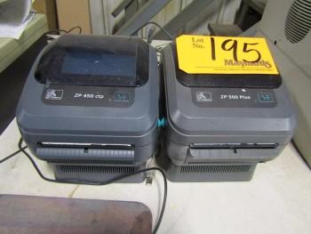 Zebra ZP450, ZP500 (2) Label Printers