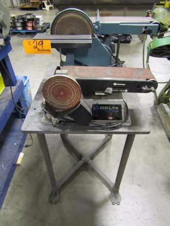 (2) Benchtop Combination Belt/Disc Sanders