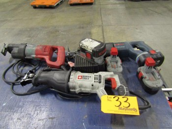(3) Electric Reciprocating Saws