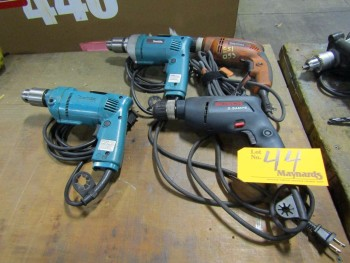 (4) Electric Drills