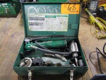 Greenlee 7506 Hydraulic Knockout Punch Set