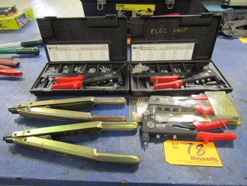 Rivet Tools, Thread Setter Kits and Keyway Punches