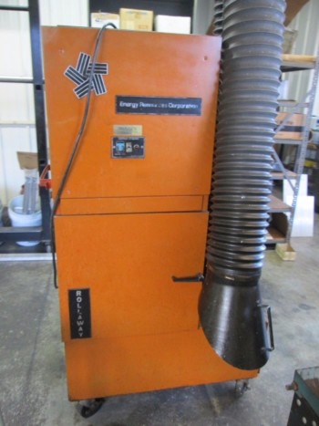 Tepco Model 21 Rollaway Air Cleaner On 4 Caster Wheels 115V 1Ph W/Hood & Hosing