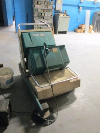 Scout 37B 12 Cell Floor Sweeper W/ Appliance Corp Model 2415 Battery Charger