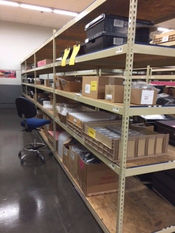 Assortment Of Steel Shelving Sections Of 3\' X 8\' & 4\' X 8\'