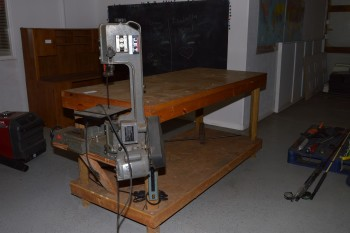 Jet Vertical 1/2hp Wood-Working Band Saw, Model# HVBS-463 with 8ft Work Bench