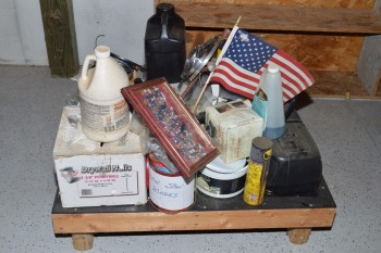 Miscellaneous Pallet - Drywall Nails, Chain Saw Blades, Air Pump and etc.