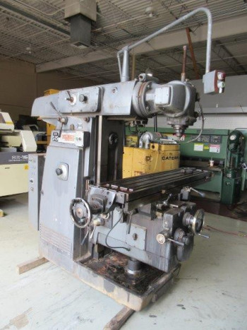 KEARNEY & TRECKER UNIVERSAL HORIZONTAL MILLING MACHINE  WITH MOTORIZED OVERARM