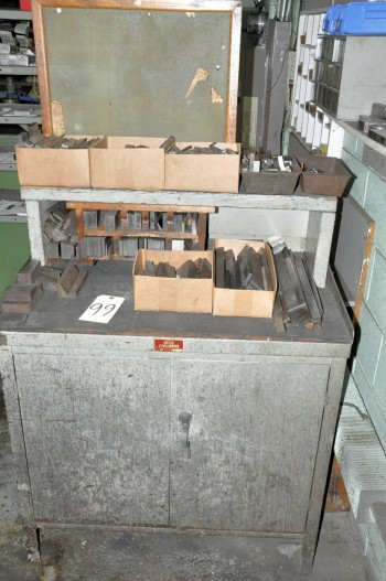 Lot-Setup Tooling with 2-Door Cabinet and Organizer Bin Cabinets,