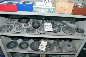 Lot-(17) Assorted Diamond Grinding and Cutoff Wheels on (1) Shelf