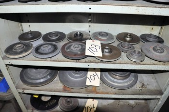 Lot-(13) Diamond Grinding Wheels on (1) Shelf
