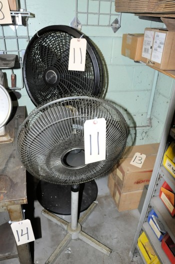 Lot-(2) Pedestal Office Fans
