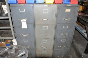 Lot-(3) Letter File Cabinets, (Contents Not Included)