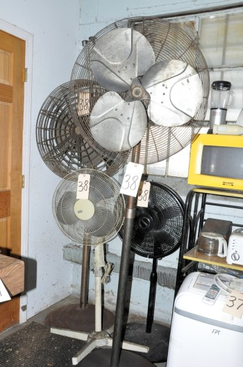 Lot-(2) Pedestal Shop Fans and (2) Pedestal Office Fans
