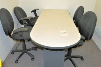 Conference Table with (4) Swivel Office Chairs