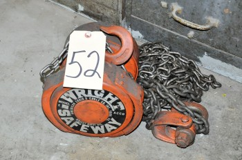 WRIGHT SAFEWAY 1-Ton Chain Fall Hoist