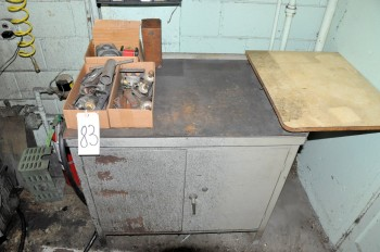 Lot-Machine Accessories, Parts, Setup, etc. with 2-Door Cabinet