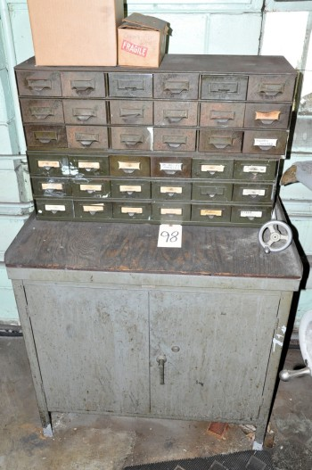 2-Door Cabinet with Bin Cabinet Organizers with Misc. Contents