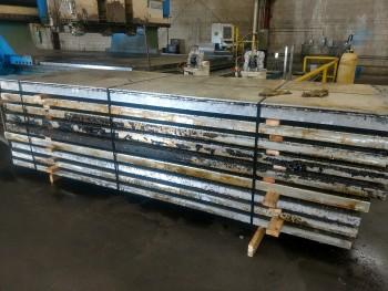 10 each, 48 x 3.5 x 144 aluminum vacuum tables