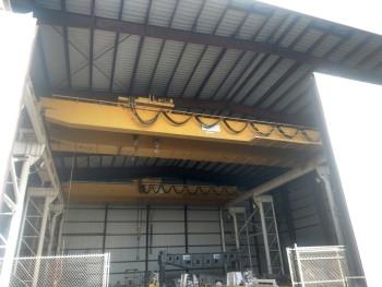 Heco Dual girder bridge Crane, 35 ton & 15 ton, hoists, 90 span, S/N 1899R