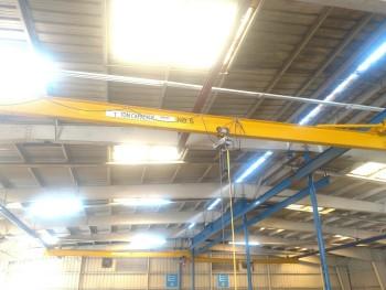 2- 1 ton bridge cranes, 25 span