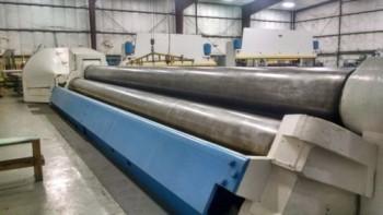 Bertsch Bending rolls, 36 X 26.5 Dia. Rolls, X  mild steel cap. S/N M-8152