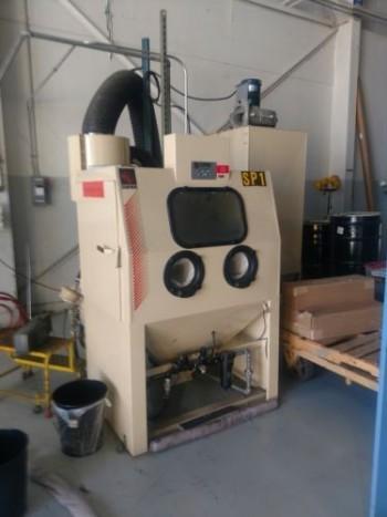 Empire Model PF-3648 Blast Cabinet with Model DCM-2000 Reclaimer