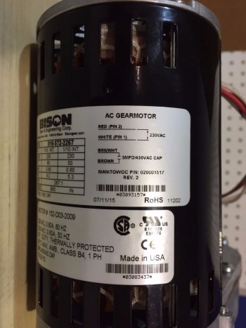 5 Manitowoc-Ice-Machine-Gear-Motor-230V-Bison-020001517-020003596