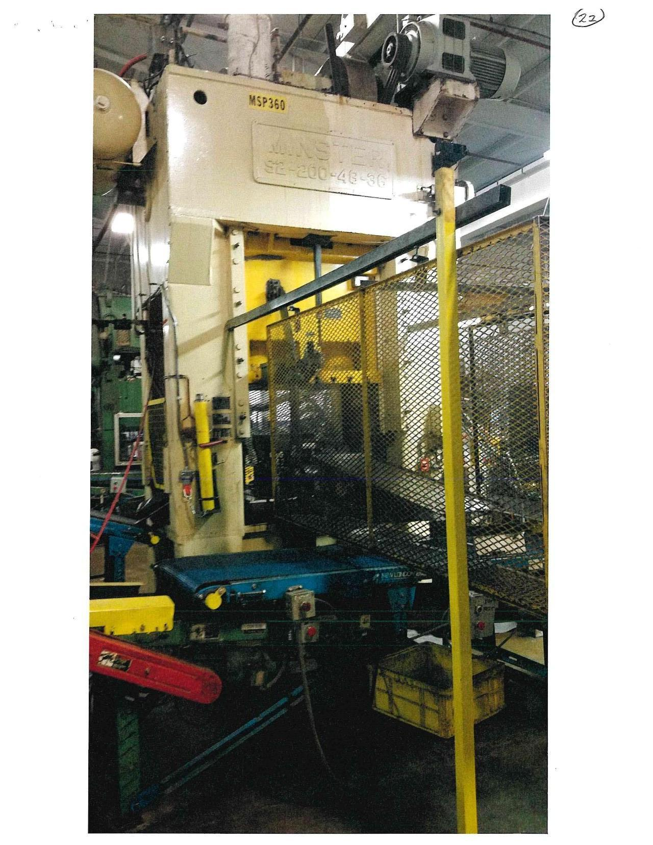 MINISTER 200 TON STRAIGHT SIDE PRESS