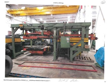 US Machine Sheet Stacker w/ Roller Tables