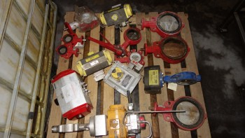 1 PALLET OF ASSORTED BUTTERY VALVES, ACTUATORS, KEYSTONE, BRAY COMPAQTORQUE