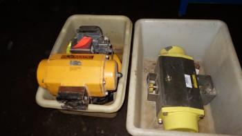 LOT OF 3 ASSORTED PNEUMATICS VALVE ACTUATORS, EL-O-MATIC, FISHER DVC6030F
