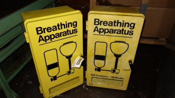 LOT OF 2 SELF CONTAINED BREATHING APPARATUS ENCLOSURES