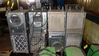 LOT OF 8 OMNI-AIRE 2000C 115V-AC AIR FILTRATION SYSTEM