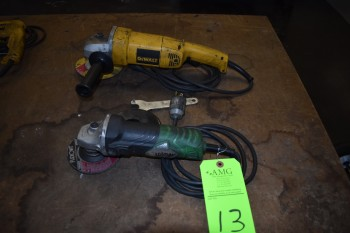 Dewalt Heavy Duty Disc Grinder & Hitachi Disc Grinder